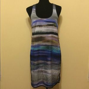 DKNY JEANS blue water color dress